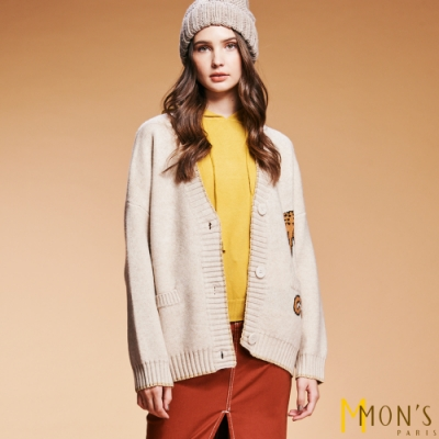 MONS 小鹿羊毛針織外套