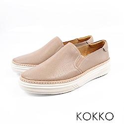 KOKKO -未知之境真皮厚底懶人鞋-