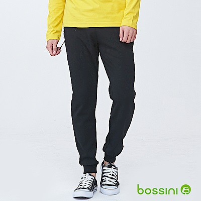 bossini男裝-休閒針織長褲01黑