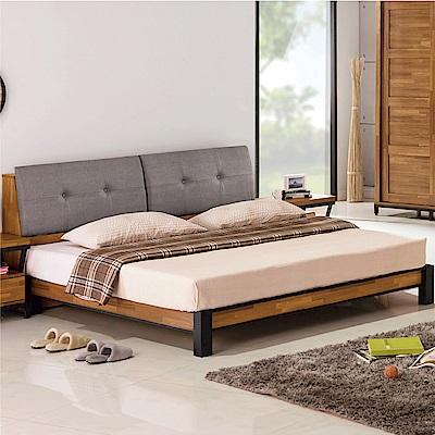 綠活居 派米亞6尺皮革雙人加大床組(床頭箱+床底+不含床墊)-184x219x95cm免組