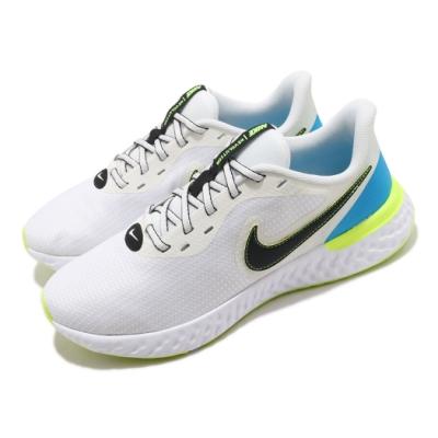 Nike 慢跑鞋 Revolution 5 EXT 運動 男鞋 輕量 透氣 舒適 避震 路跑 健身 白 黑 CZ8591102