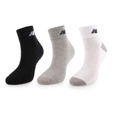 NEWBALANCE 運動短襪3入 黑灰白