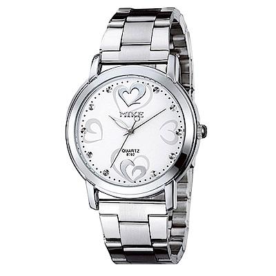 Mirabelle 情人愛意 點鑽不鏽鋼男錶 白面39mm