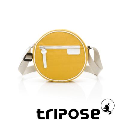 tripose PIPE系列滾邊圓型斜背包 黃
