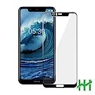 鋼化玻璃保護貼系列 Nokia 5.1 Plus (5.8吋)(全滿版黑)