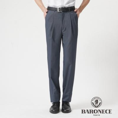 BARONECE 百諾禮士休閒商務  男裝 功能性竹碳彈性打褶西裝褲-灰色(1188862-95)