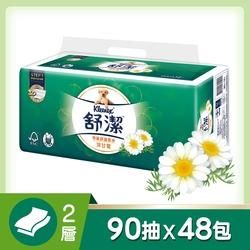 舒潔 特級舒適洋甘菊抽取衛生紙90抽X12包X4串/箱