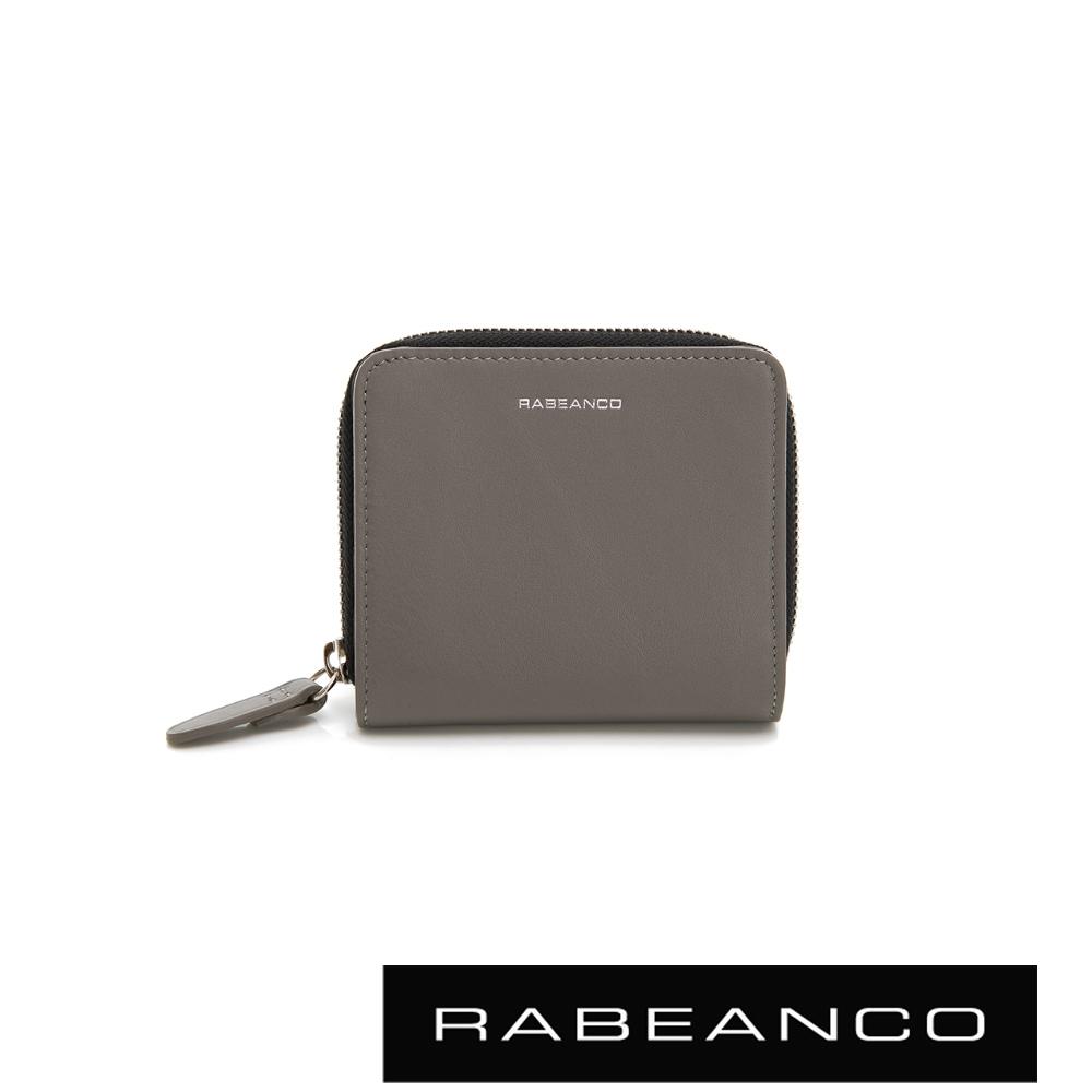 RABEANCO 迷時尚系列撞色拉鍊短夾 灰