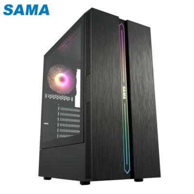 SAMA 先馬 SA2107(B) 復仇戰神 無孔玻璃透側 ARGB 電腦機殼 電腦主機