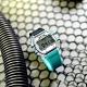 I AM 電子液晶 繽紛色彩 錶帶自由搭配 矽膠手錶-灰x透明x藍/38mm product thumbnail 1