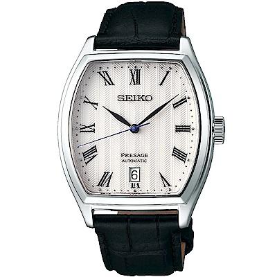 SEIKO精工 Presage日禪風格羅馬機械錶(SRPD05J1)-白/37mm