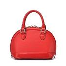 米蘭精品 手提包真皮肩背包-純色牛皮時尚貝殼包女包情人節生日禮物3色73uq32