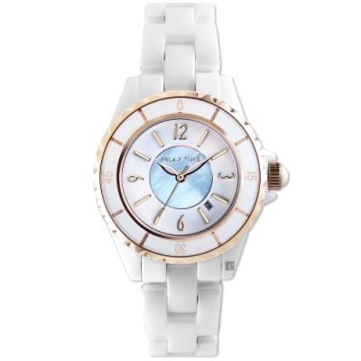 RELAX TIME 經典陶瓷系列手錶-藍貝(RT-93-15)