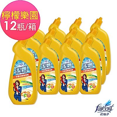 潔霜 芳香浴廁清潔劑-檸檬樂園(12入/箱~箱購)