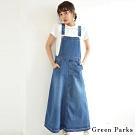 Green Parks 可調式牛仔連身吊帶A字裙