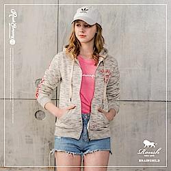 ROUSH 女生雲霧膠印刷毛連帽外套 (2色)