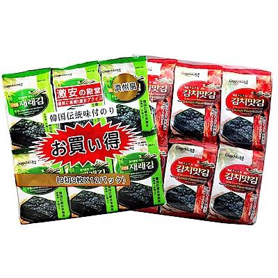 激安殿堂 竹鹽/泡菜/蜜汁辣雞-海苔(12包入) 任選1