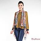 KeyWear奇威名品    民俗風格造型開襟背心-綜合色
