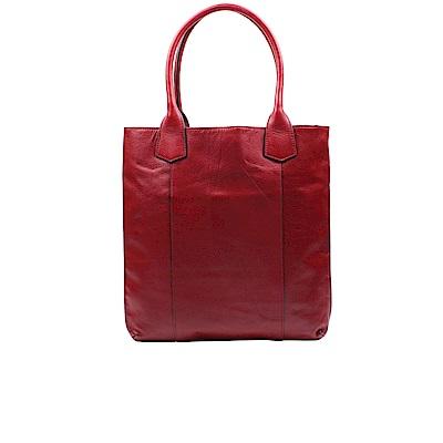 Omdi 時尚簡約肩背包-紅色