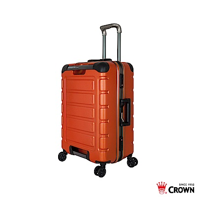 CROWN 皇冠 22吋鋁框箱 閃橘色 悍馬箱 獨特箱面手把 行李箱