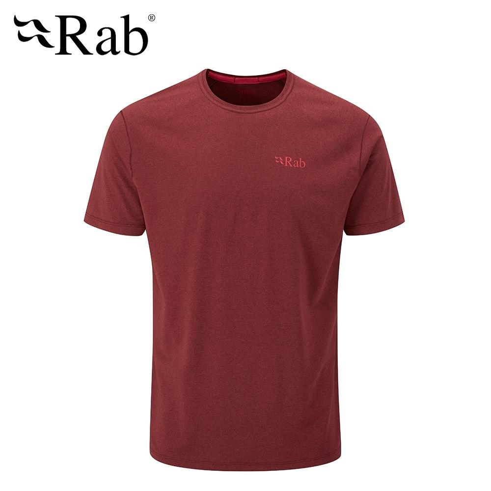 【英國 RAB】Mantle Tee 圓領透氣短袖T恤 男款 腥紅 #QBL11