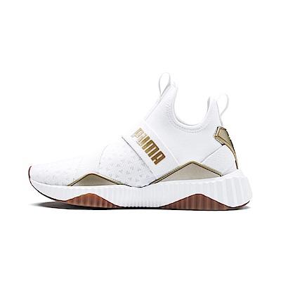 PUMA-Defy Mid Sparkle女性有氧運動鞋-白色