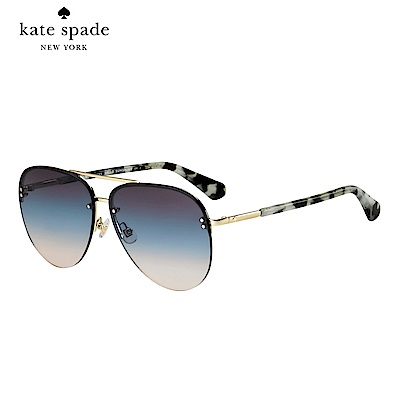 Kate Spade JAKAYLA/S-飛行員太陽眼鏡 灰玳瑁鏡臂