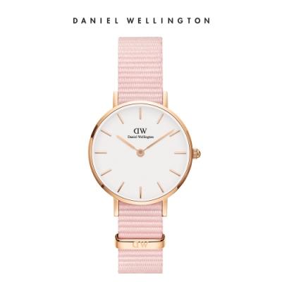 【Daniel Wellington】官方直營 Petite Rosewater 28mm櫻花粉織紋錶 DW手錶