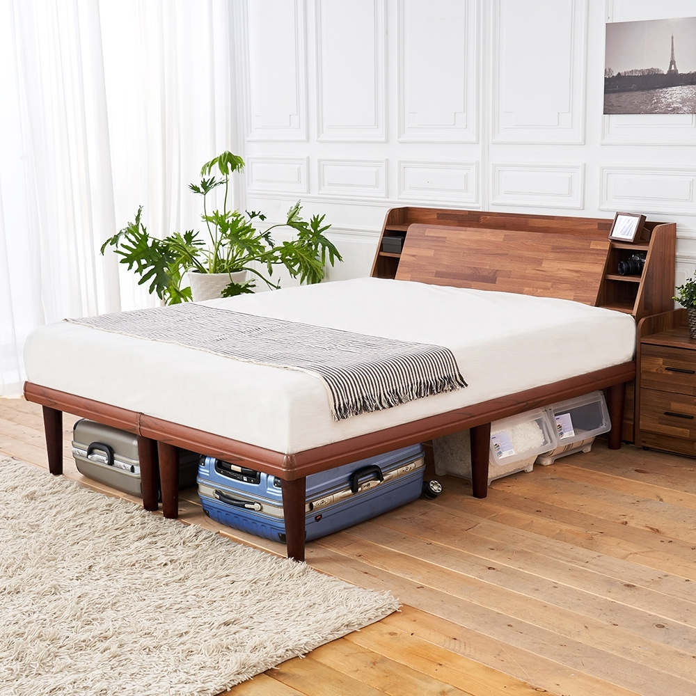 時尚屋  野崎5尺床箱型高腳雙人床(不含床頭櫃-床墊)