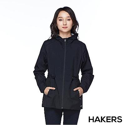 【HAKERS 哈克士】女款 3L輕量休旅外套(黑色)
