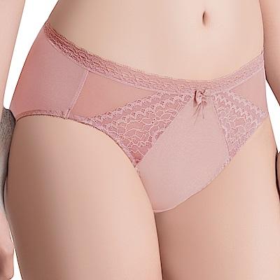 思薇爾 挺享塑系列M-XXL蕾絲中腰三角內褲(冰玉紫)