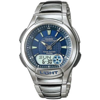 CASIO 時尚雙顯商務休閒錶-AQ-180WD-2A(藍)/41mm