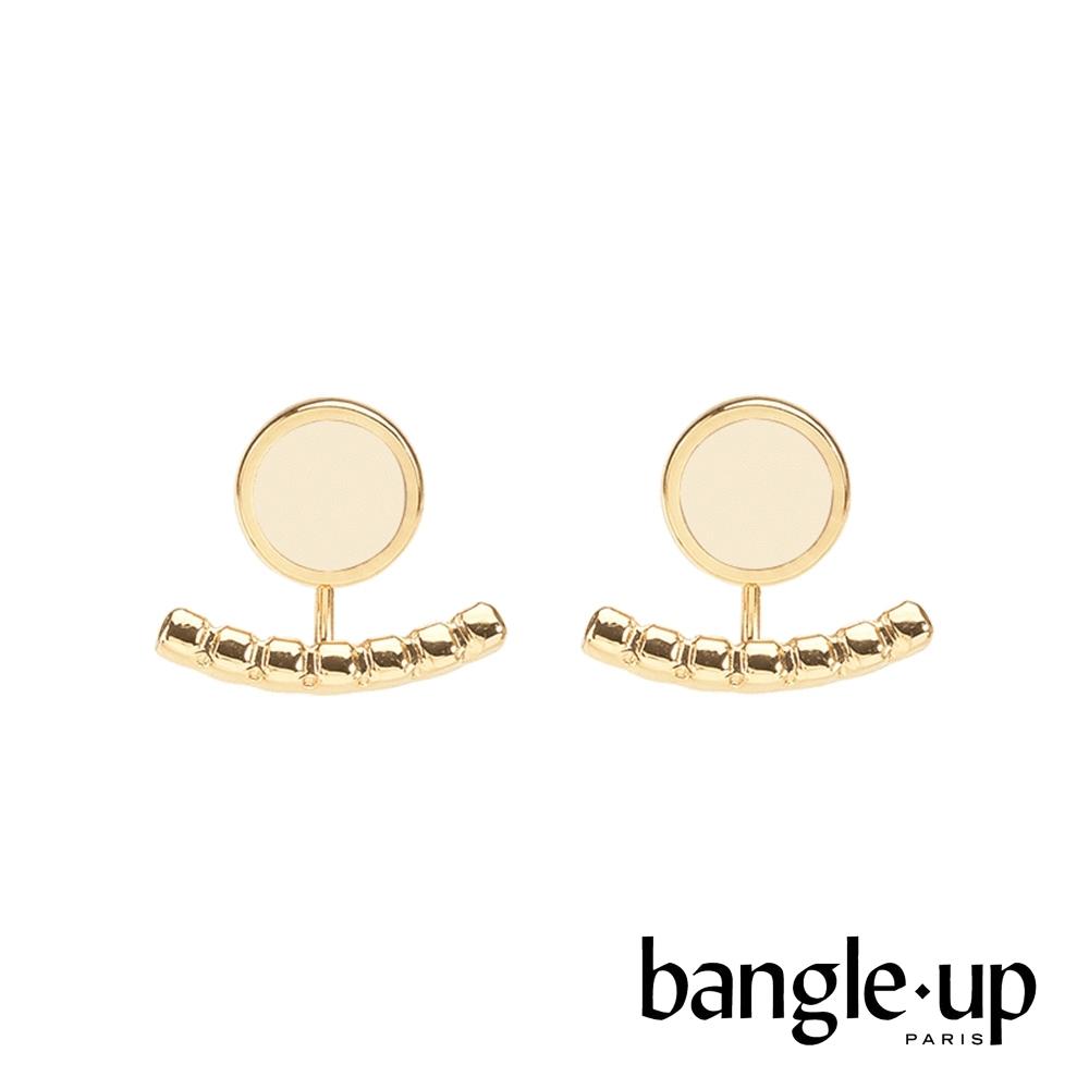 BANGLE UP 典藏巴黎琺瑯耳掛式兩用耳環-質感白
