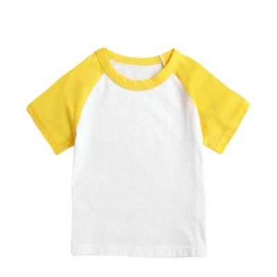 baby童衣 男女童上衣 撞色插肩短袖純棉素面圓領T 61109