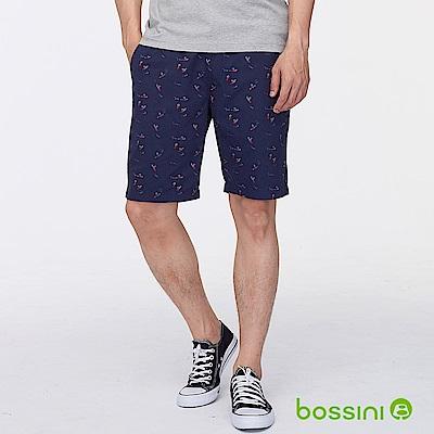 bossini男裝-印花輕便短褲04海軍藍
