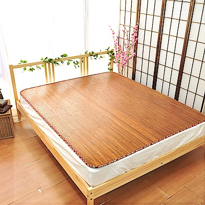 亞曼達Amanda 台灣中青碳化寬版天然竹涼蓆/涼墊/竹蓆 -單人3尺