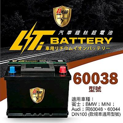 日本KOTSURU-8馬赫鋰鈦汽車啟動電瓶 60038 / 70Ah
