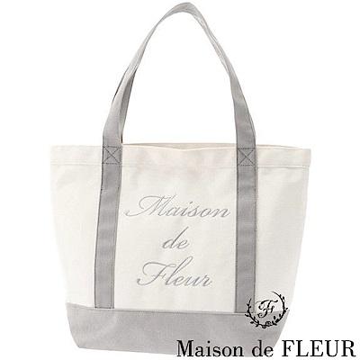 Maison de FLEUR  刺繡LOGO手提帆布包