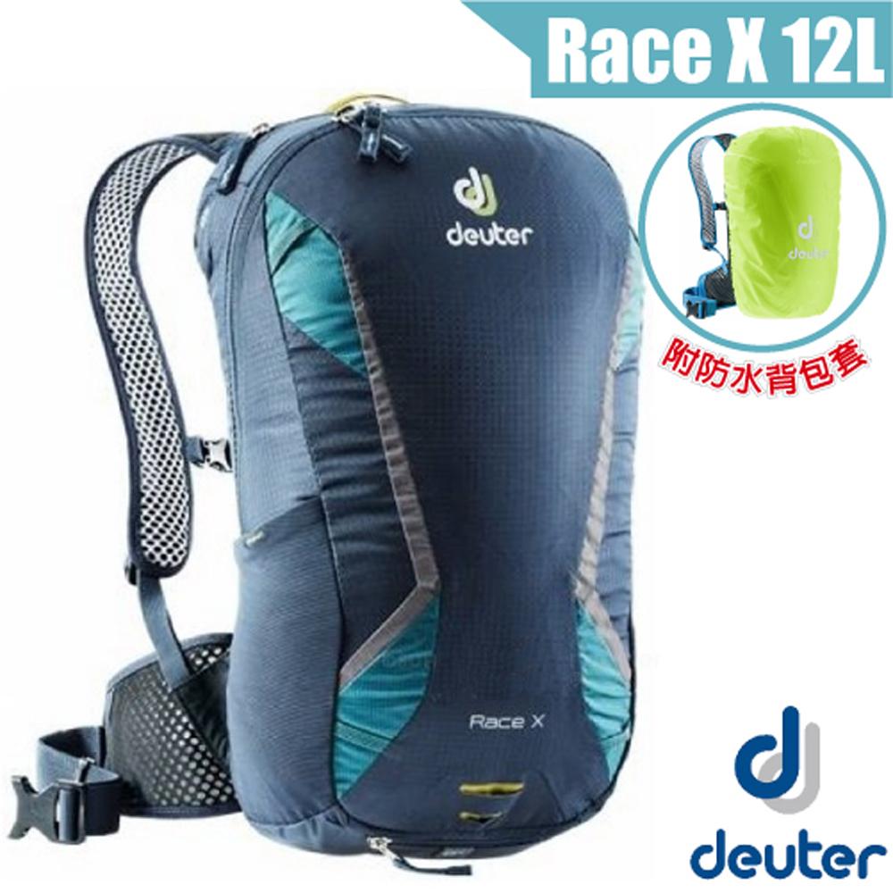 德國 Deuter Race X 12L 輕量級透氣自行車背包_藍