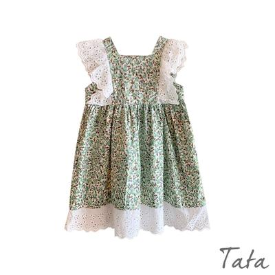 童裝 碎花方領裝飾蕾絲洋裝 TATA KIDS