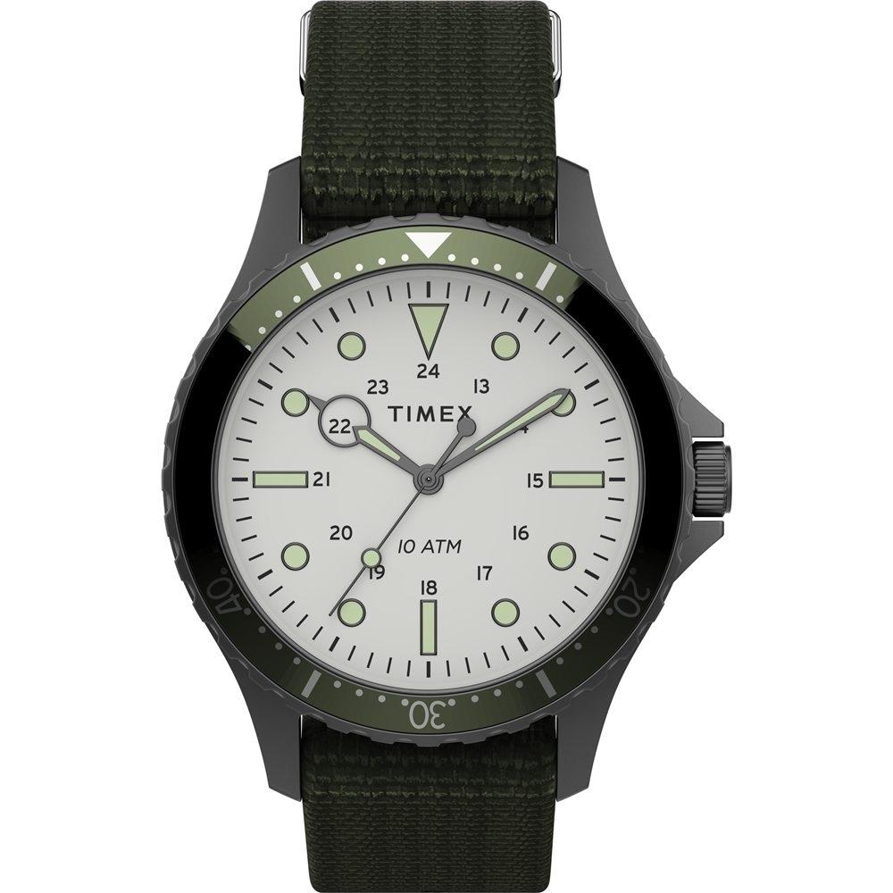 TIMEX 天美時 復刻系列 簡約復古手錶-橄欖綠 /41mm