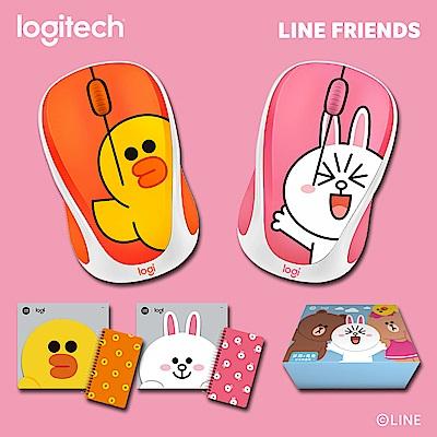 羅技 Line Friends聯名滑鼠-莎莉+兔兔 好友限量版