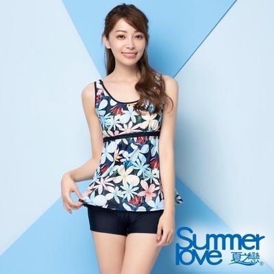 夏之戀SUMMER LOVE大女長版二件式泳衣E20706