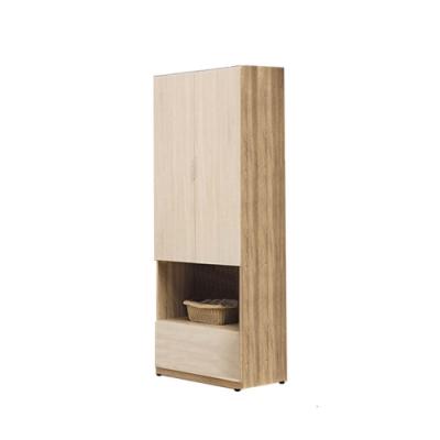 柏蒂家居-瑞莎2.5尺二門中開放衣櫃-75x60x197cm