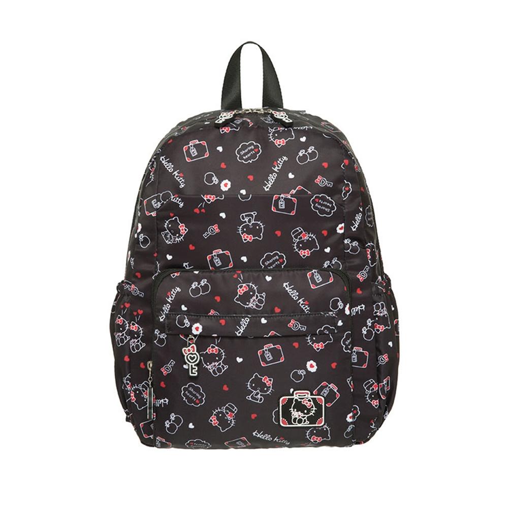 【Hello Kitty】凱蒂漫旅-後背包(中)-黑 KT01T03BK