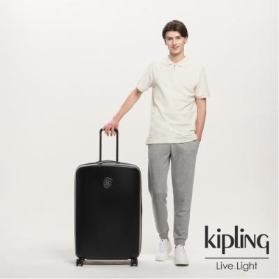 Kipling 曜岩黑品牌經典圓標31吋摩登硬殼行李箱-CURIOSITY L