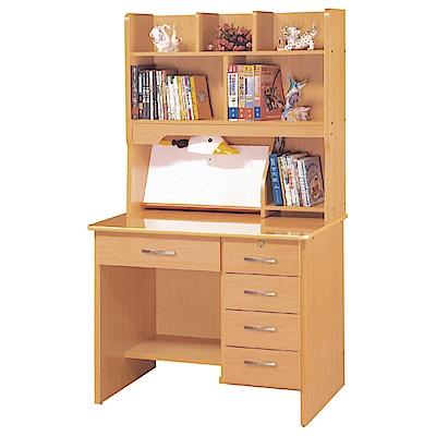 綠活居 米多倫時尚3尺多功能書桌/電腦桌組合(上+下座)-91x58x164cm免組