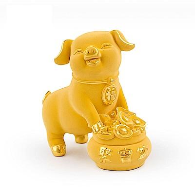 MANSTYLE 小聚寶盆豬 黃金擺件 (約1.60錢)