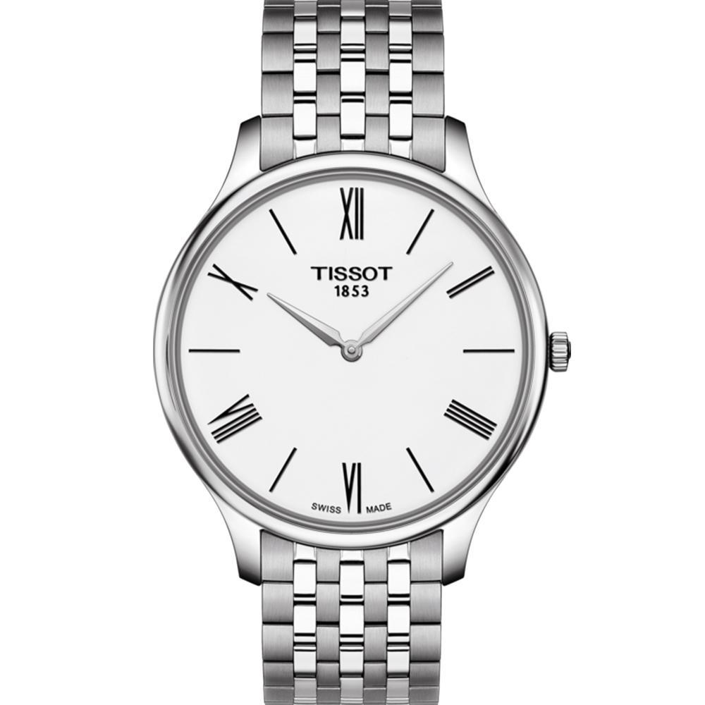 TISSOT天梭 T-Tradition 超薄設計石英錶T0634091101800-白 @ Y!購物