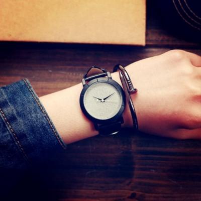 Watch-123 砂塵幻想-創意多色半月型秒針手錶 (2色任選)